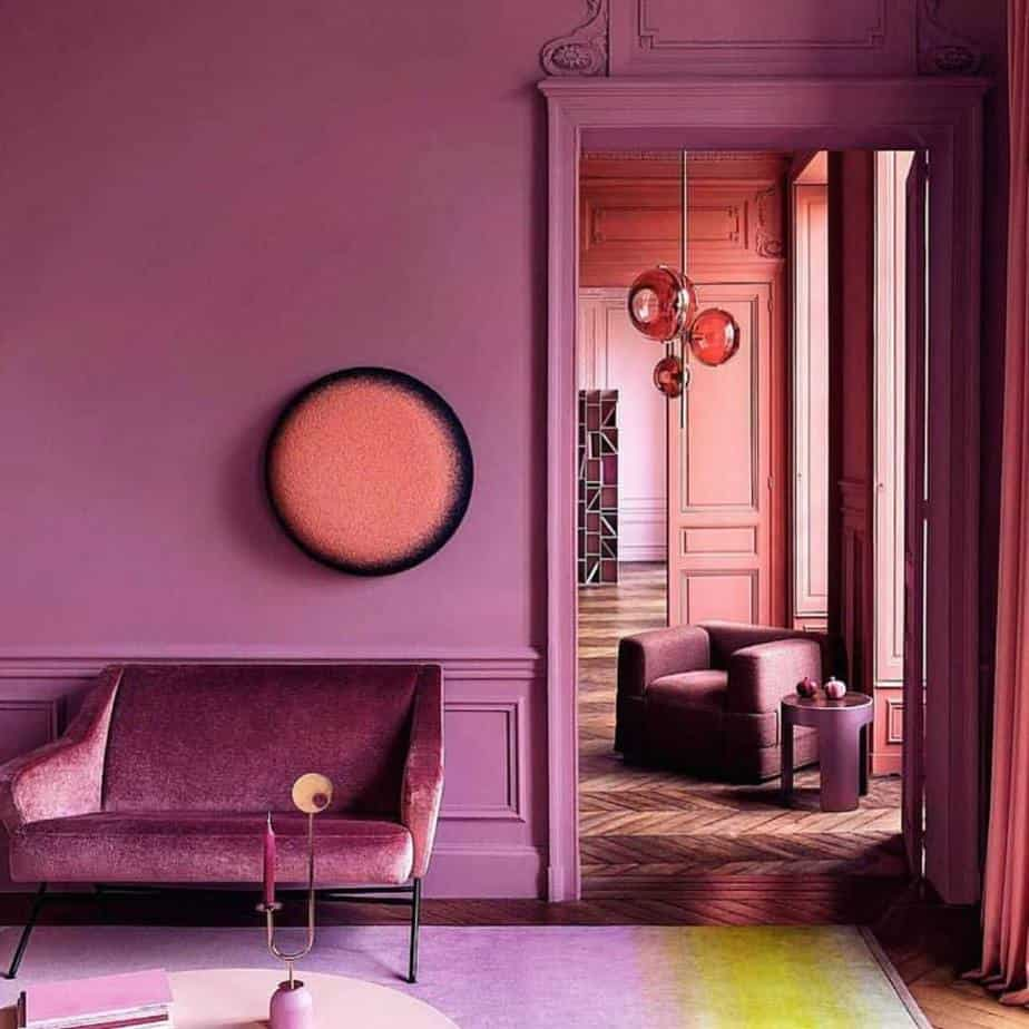 interior color trends 2020 red purple